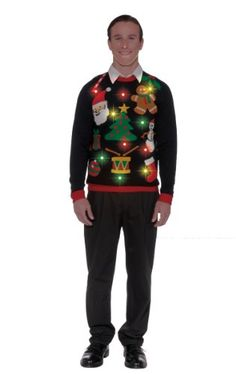 Forum Novelties Adult Everything Light-Up Ugly Christmas Sweater, Multi, Large Forum Novelties http://www.amazon.com/dp/B00GKF5KXQ/ref=cm_sw_r_pi_dp_1V9Kub1X6K3QJ