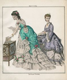 Casey Fashion Plates Detail | Los Angeles Public Library La Mode Illustree Date:  Friday, April 1, 1870