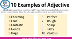 Male and Female Animals Name List | English Study Here Examples Of Adjectives, Common Adjectives, List Of Adjectives, Adjective List, The Words, Opposite Words, English Study, English Words, Learn English