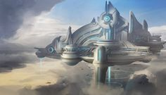 Psionic Floating City by FranklinChan
