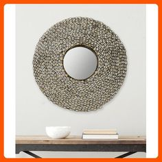 Safavieh Home Collection Jeweled Chain Mirror, Natural - Improve your home (*Amazon Partner-Link)