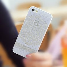 Folk Totem Lace iPhone 5/5S Slim Hard Clear Mobile by ATHiNGZ, $9.99
