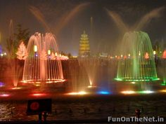 Image detail for -Beautiful fountains of the world-Big Wild Goose Pagoda Fountains Fountain Lights, Fountain Square, Ancient Buildings, Fountain Of Youth, World's Biggest, Water Features, Water Fountains, Most Beautiful, Things To Come