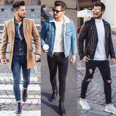 """1,618 Me gusta, 168 comentarios - Fabrizio Aldo Belfiore (@fabrizioaldobelfiore) en Instagram: """"These are the best 3 outfits of 2017. Which look do you prefer? Questi sono i miei migliori 3…"""""""
