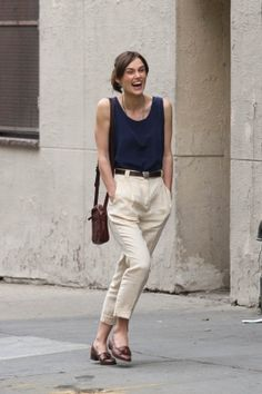 Keira Knightly Begin Again minimal *warm weather style