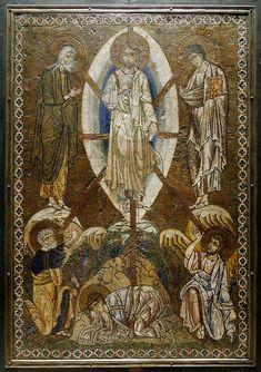 Преображение. Византийская мозаика, 1200, Лувр - Римская и византийская мозаика