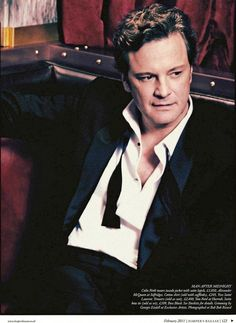 Colin Firth - undone bow ties are very cool