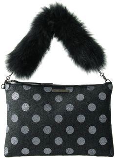 ジル スチュアート ドット柄ミニトート / Jill Stuart fur strap bag on ShopStyle