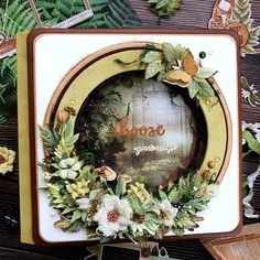 """Fotoalbum. Scrapbooking. on Instagram: """"Привет всем, люди! 😍 Собираюсь с мыслями, что надо написать в первом посте после полугодового перерыва в скрапе. И ничего эдакого в голову…"""" Large Scrapbook, Scrapbook Albums, Santorini, Grapevine Wreath, Grape Vines, Paper Crafts, Wreaths, Frame, Decor"""