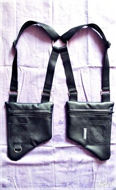 So cool! HOLSTER bAg//VEGAN BLACK leather. €49.00, via Etsy.: