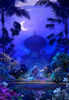 Artwork of anything Disney related! Aladdin Wallpaper, Disney Phone Wallpaper, Disney Princess Art, Disney Art, Disney Wallpaper Princess, Disney Dream, Disney Magic, Disney E Dreamworks, Disney Background