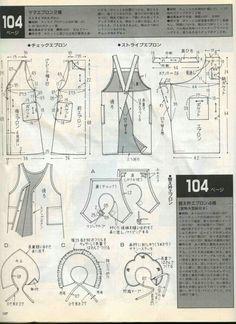 Apron Bib Apron, Apron Dress, Sewing Aprons, Sewing Clothes, Japanese Apron, Mom And Grandma, Oven Glove, Aprons Vintage, Pinafore Dress