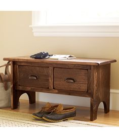 Rustic Wooden Foyer Bench: Top Rated by Customers at L.L.Bean