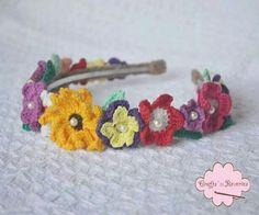 Crohet floral headband