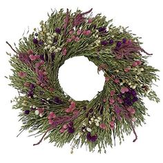Pink Grasslands All natural dried floral fall wreath- flowers to last the whole year through – Fall Wreath İdeas. Dried Flower Wreaths, Lavender Wreath, Fall Wreaths, Dried Flowers, Pink Wreath, Floral Wreaths, Globe Amaranth, Silk Flower Arrangements, How To Preserve Flowers