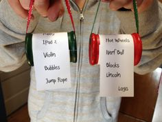 Christmas Wish List Ornaments - adorable!!