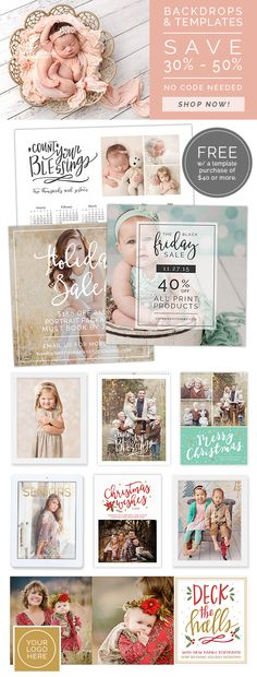 Our Black Friday Sale has started! Photography Backdrops & Templates are 30% - 50% off + receive a free gift with a template purchased of $40 or more. Download the latest FREEBIE on the blog while you're there! #photography #photographer #marketing #templ