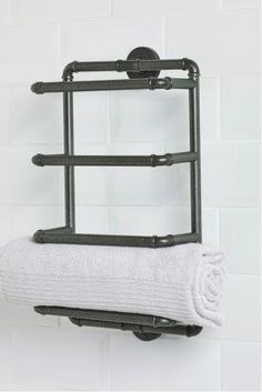 Pep up your bathroom with stylish shower accessories. A blend of utility and elegance, shop essential shower shelves & towel holders. Next day delivery & free returns available. Storage Caddy, Towel Storage, Towel Rack Bathroom, Bathroom Wall, Bathroom Ideas, Decorative Bathroom Mirrors, Downstairs Toilet, Towel Crafts, Shower Shelves