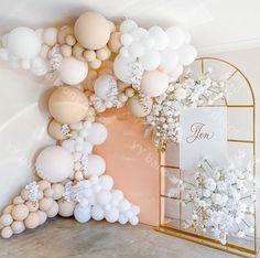 Ballon Arch, Balloon Backdrop, Balloon Garland, Diy Backdrop, Balloon Wall, Diy Wedding Backdrop, Balloon Party, Deco Baby Shower, Shower Party