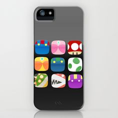 home screen.. mario apps iPhone & iPod Case by studiomarshallarts - $35.00