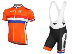 2016 Netherlands Cycling Jerseys wear orange dutch Holland Quick Dry Short sleeve cycling tights riding racing pro team ropa ciclismo/custom