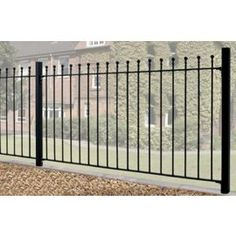 Buy Wrought Iron Style Ball Top Metal Fence Panel 183cm GAP x 91cm High from our Fence Panels & Fencing range - Tesco
