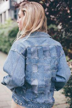 vintage customized denim levis jacket
