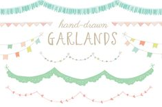 Check out Hand-Drawn Garland Clip Art by angiemakes on Creative Market