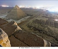 Beautiful Landscape From the top of Pyramid.