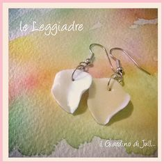 porcelain dangling earrings Le Leggiadre by IlGiardinodiJull