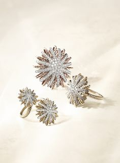 David Yurman amazing starburst rings