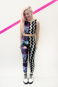 SPACE CADET ELECTRIC GALAXY TWO PIECE DISCO SUIT