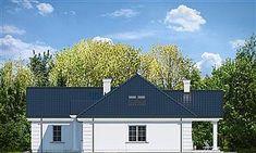 Elewacja prawa projektu Dom na Parkowej 6 3 Bedroom Bungalow, Landscaping Around House, Kansas City Missouri, Solar Panels, House Plans, Shed, Villa, Outdoor Structures, Cabin