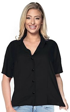 LA LEELA CAMP BASIC REGULAR FIT HOLIDAY VINTAGE DRESS SHIRT Camp Plain Black XXL. Do YOU want blouse in other colors Like Red | Pink | Orange | Violet | Purple | Yellow | Green | Turquoise | Blue | Teal | Black | Grey | White | Maroon | Brown | Mustard | Navy ,Please click on BRAND NAME LA LEELA above TITLE OR Search for LA LEELA in Search Bar of Amazon To get COMFORTABLE FIT and Right SIZE FOR YOU, request you to view SIZE CHART See LA LEELA's SIZE IMAGE in Product Image on the left. SAVE…