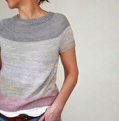 Ravelry: Notice (spring) short sleeve sweater / top pattern by ANKESTRiCK. Classic.