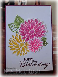 My celebrated her birthday recently and I haven't shared her card with you.  I made this card whilst I was playing, I mean working, with the Special Reason stamp set. I cut the large flower f…