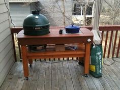 Awsome outdoor grill table plans