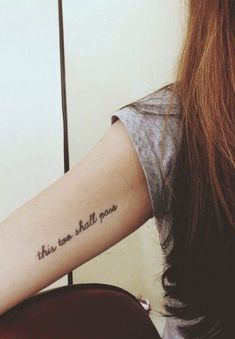 This too shall pass tattoo via Tattoologist