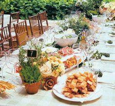 Self-serve platters on table
