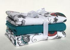 Flannel Burp Cloth Set Baby Burp Cloth Baby by BeastiesBabies