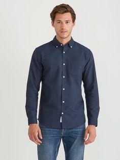 4371312d8e FRANK + OAK The Jasper Oxford Shirt in Navy.  frank+oak  cloth