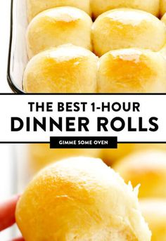 1-Hour Soft and Buttery Dinner Rolls | Gimme Some Oven Homemade Dinner Rolls, Dinner Rolls Recipe, Easy Dinner Recipes, Homemade Breads, Best Rolls Recipe, Sweet Yeast Rolls Recipe, Soft Bread Rolls Recipe, Fluffy Bread Recipe, Dinner Rolls Easy