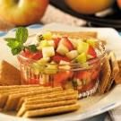 "Fruit Salsa: friend's feedback: ""followed it except I only used one kiwi and added a chopped honey crisp apple"""