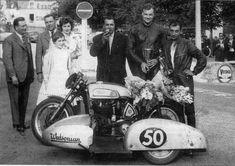 PHOTOS de COURSES 1950 / 1960 – Le Blog de François Fernandez Manx, Bugatti, Honda, Vintage Motorcycles, Courses, Sims, Monster Trucks, Racing, Vehicles