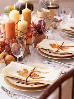 Decorazioni autunnali sulla tavola