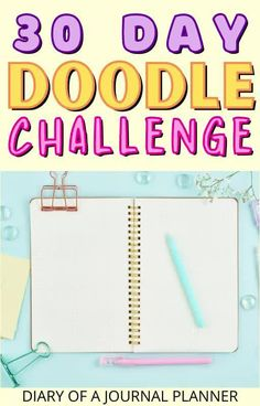 Learn how to become a doodling pro with this printable 30 day doodle challenge! #doodling #bulletjournaldoodles Easy Doodles Drawings, Easy Doodle Art, Cool Doodles, You Doodle, Simple Doodles, Doodle For Beginners, Bujo Doodles, Doodle Art Journals, Alcohol Markers