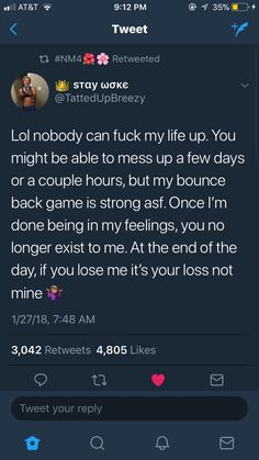 Reminds me of my seesterrrr 💖👏👏👏💪 Bae Quotes, Real Talk Quotes, People Quotes, Mood Quotes, Qoutes, Funny Quotes, Relatable Tweets, Funny Tweets, Twitter Quotes