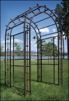 About the Pergola Arch Arbor Create a stunning entrance to your garden or patio with this arched garden gazebo. Garden Arch Trellis, Garden Arches, Pergola Swing, Metal Pergola, Deck With Pergola, Cheap Pergola, Wooden Pergola, Outdoor Pergola, Backyard Pergola