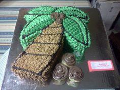 Deb's palm tree cake
