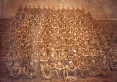 a photo of the Tyneside Scottish taken after July 1916. Remnant of the brigade after the Somme?